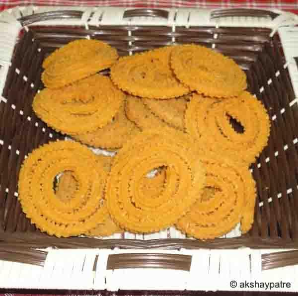 Chakli in a serving plate