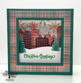 Our Daily Bread Designs Stamp Set: Christmas Card Verses, Custom Dies: Diorama with Layers, City Skyline, Bethlehem, Trees and Deer, Paper Collection: Christmas 2017