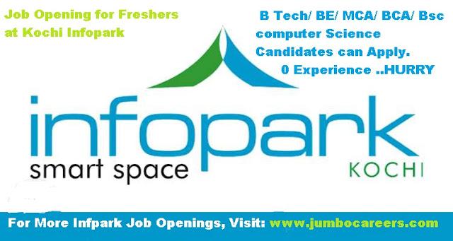 lates openings in infopark kochi, freshers jobs in kochi infopark