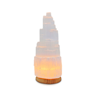 Selenite saltl lamp