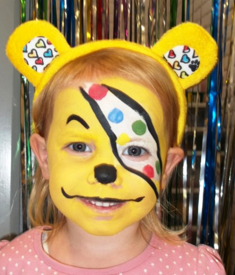Pudsey Bear Face Paint