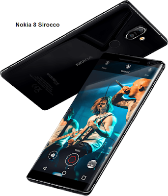Nokia 8 Sirocco - Qualcomm Snapdragon 835 | Wide-angle Front Camera, Dual sight mode | 12MP/13MP Camera