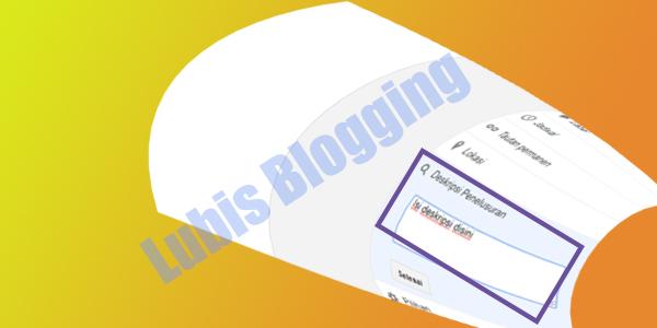 deskripsi penelusuran di blog