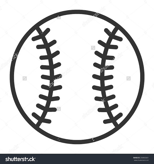 Baseball Or Baseball Homerun Line Art Icon For Sports Apps And Websites