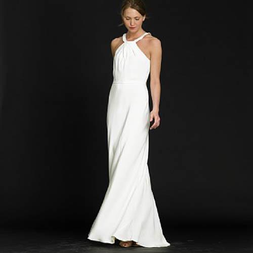 Plain Elegant White Wedding Dress Designs