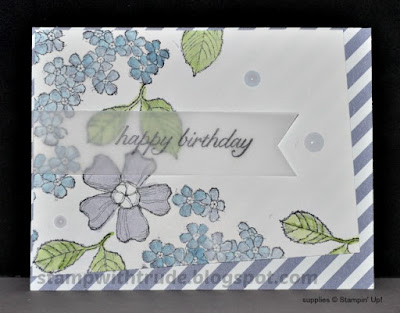 Birthday Blossoms, birthday card, Stampin' Up!, Stamp with Trude, floral, watercolor