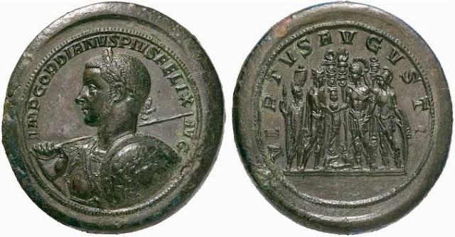 Medallón de oricalco de Gordiano III