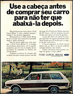 propaganda Ford Corcel Belina - 1970, Ford Willys anos 70, carro antigo Ford, década de 70, anos 70, Oswaldo Hernandez,