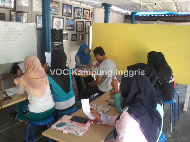 kegiatan kursus di VOC kampung inggris pare kediri