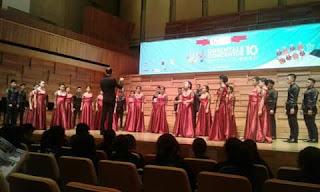 Smart Choir SMA N 3 Tondano Harumkan Indonesia di Singapura