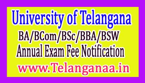 TU UG (BA/BCom/BSc/BBA/BSW) Annual Exam Fee Notification 2017