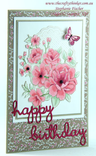 #thecraftythinker  #stampinup  #lovelylattice  #sneakpeekoccasions2019 #cardmaking , SDBH, Lovely Lattice, Sneak Peek, Occasions Catalogue 2019, Stampin' Up Australia Demonstrator, Stephanie Fischer, Sydney NSW