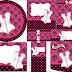 Lencería en Rosa: Etiquetas para Candy Buffet para Imprimir Gratis.