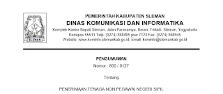 Lowongan Kerja Non PNS Terbaru Dinas Komunikasi dan Informatika Daerah Istimewa Yogyakarta