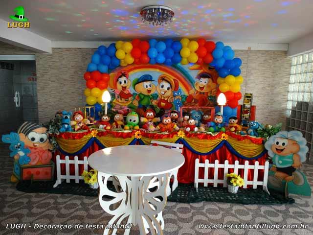 Decoração da mesa de aniversário tema Turma da Mônica para festa infantil feminina - Barra - RJ