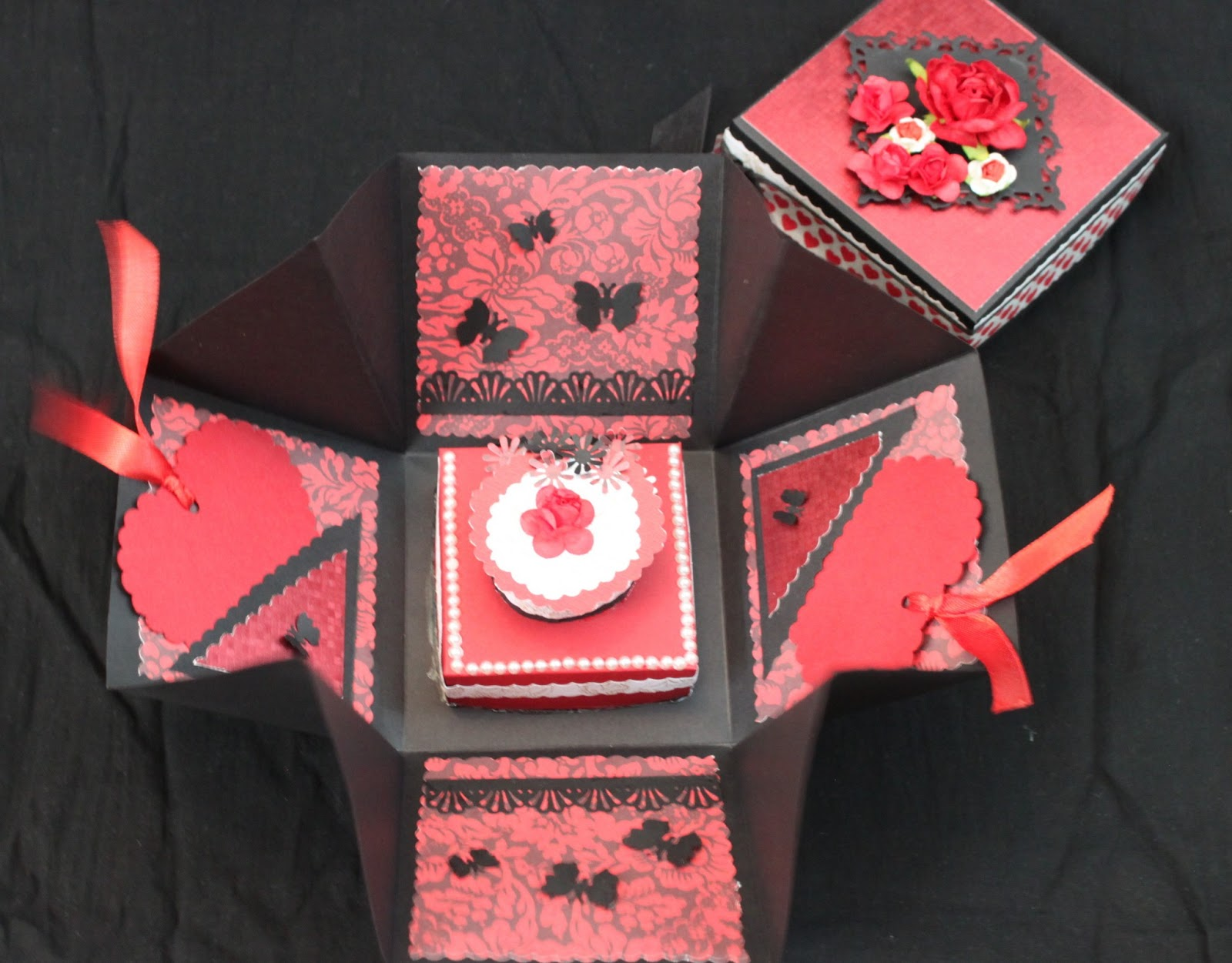 Crafted Creations Explosion Box Love Theme