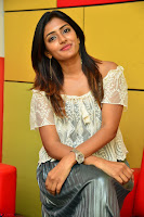 Eesha in a cute deep neck top and Skirt at at Big FM 015.JPG