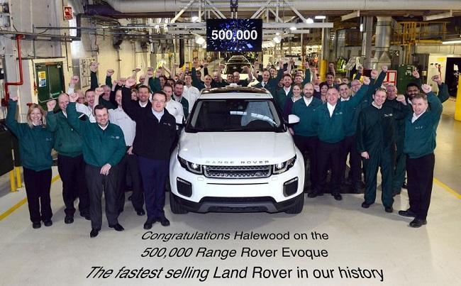 Xuất xưởng chiếc Range Rover Evoque thứ 500.000