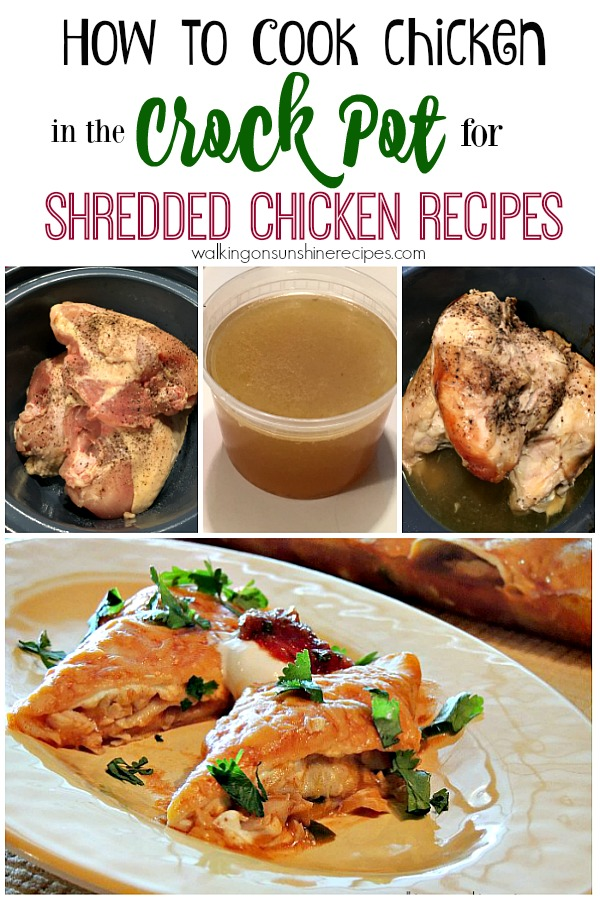 The easiest way to precook chicken to use in recipes that call for shredded chicken is to use your crock pot.