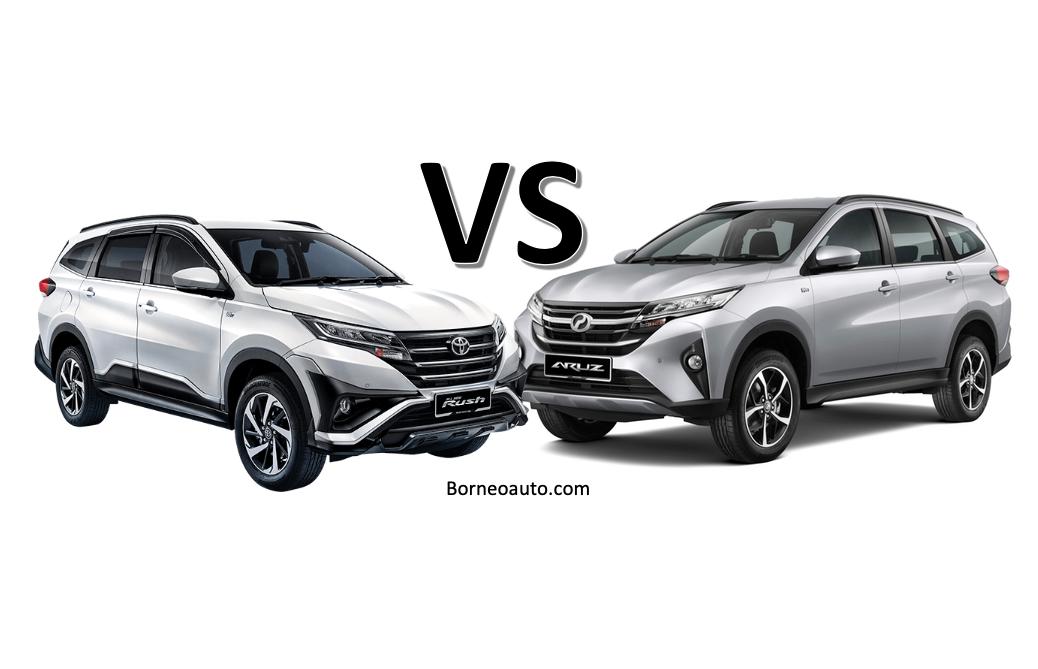 Perbezaan Perodua Aruz vs Toyota Rush
