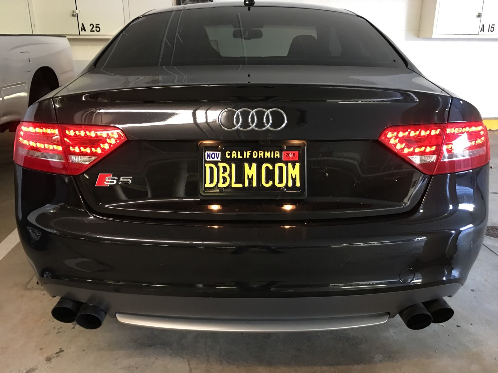 The Doublem Audi S5 New Legacy License Plate