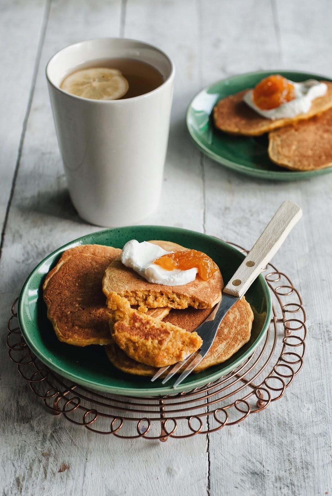 Placuszki bezglutenowe - marchewkowe pancakes