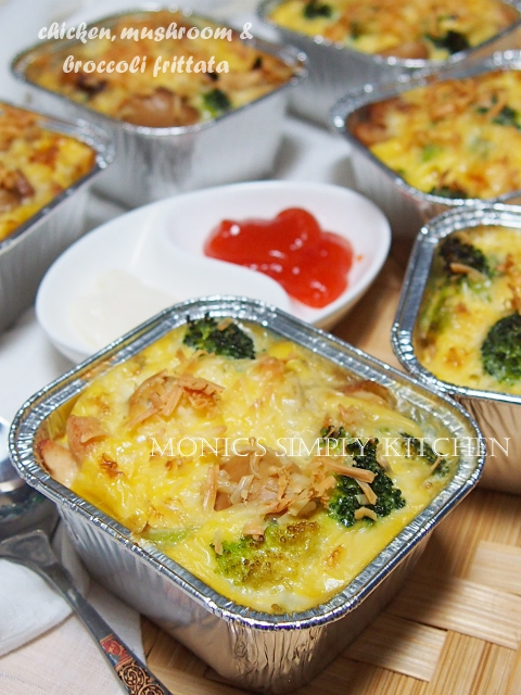 cara membuat chicken mushroom broccoli frittata