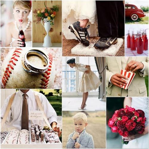 1940s Baseball Wedding Theme Melissa Creates