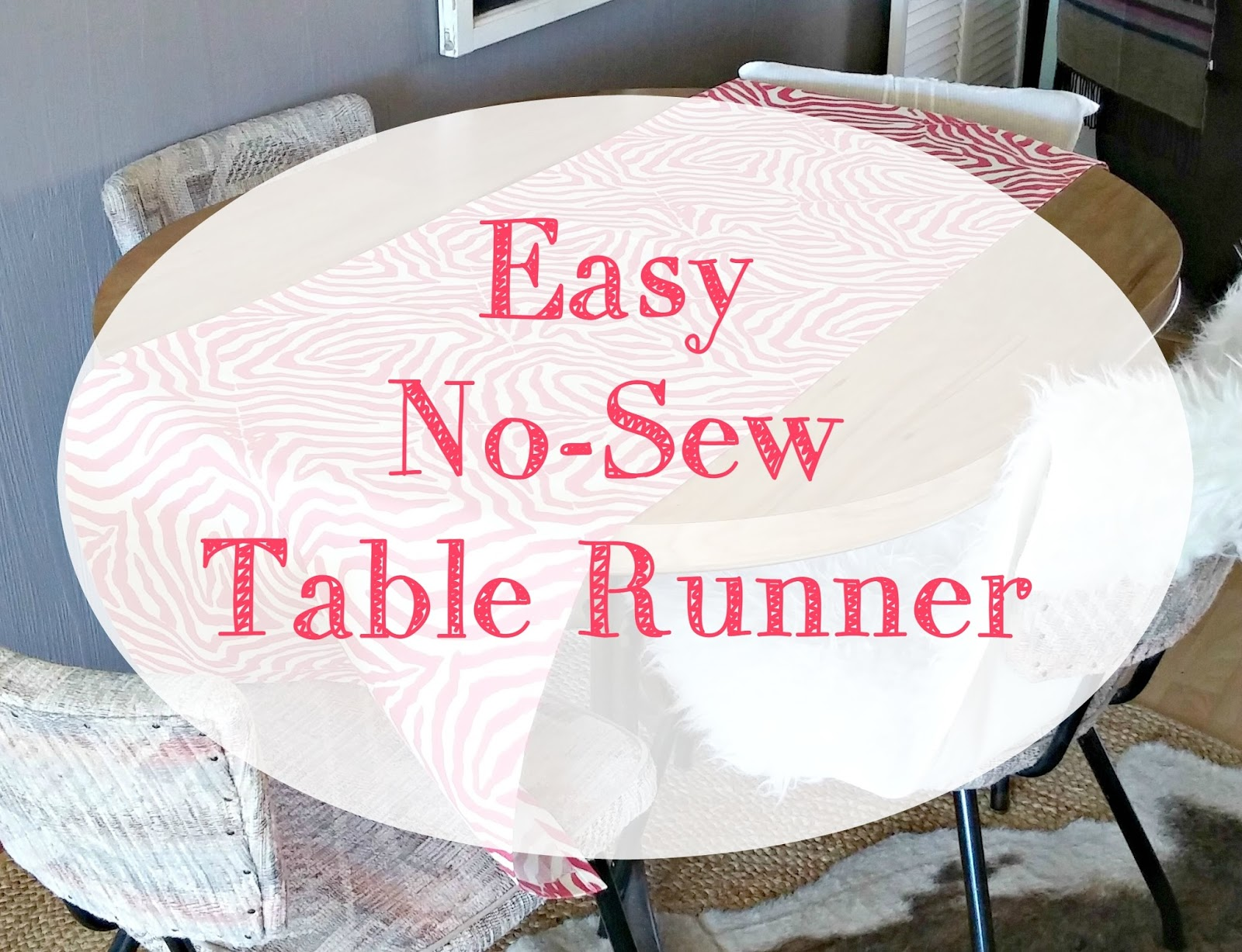 Easy No Sew Table Runner Little Vintage Cottage