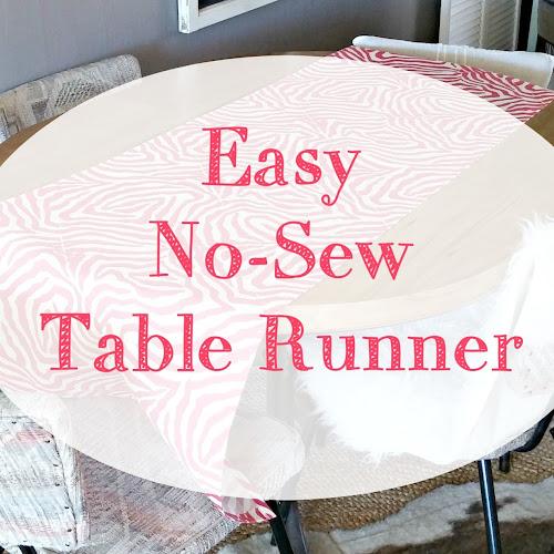 Easy No-Sew Table Runner