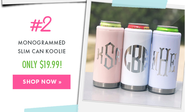 monogrammed slim can koolie from marleylilly.com