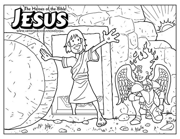 Dibujo de la Resurrección de Jesus para colorear ~ Dibujos