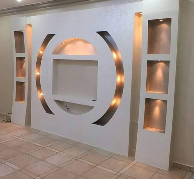 25 popular custom gypsum board tv units decor units. Black Bedroom Furniture Sets. Home Design Ideas