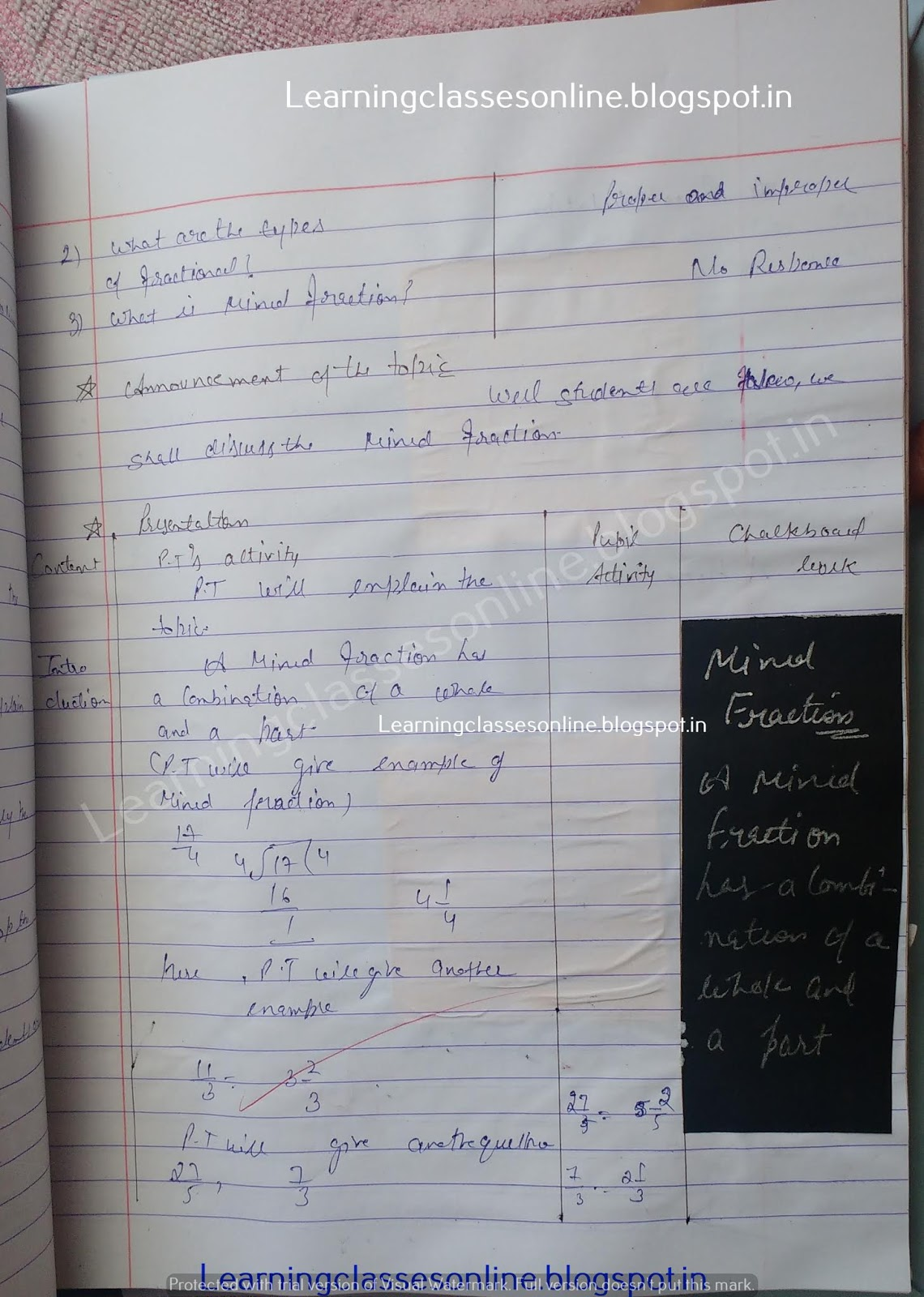 How To Make Lesson Plan For Maths,