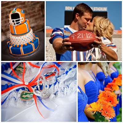 Florida Gators Wedding Inspiration by Sugarplum Garters