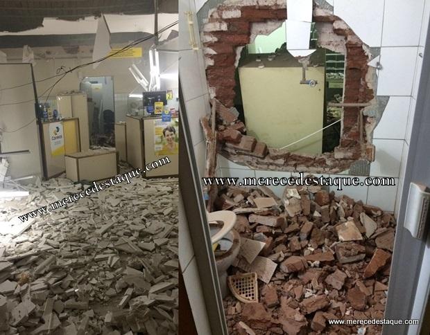 Elementos arrombam correios, casa lotérica e lojas na cidade de Caraúbas - PB
