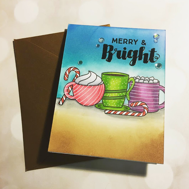 Sunny Studio Stamps: Mug Hugs Winter Themed Customer Card Share by Andrea S