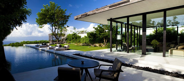 Located on a cliff overstep plateau on the Bukit Peninsula Beaches in Bali; Alila Villas Uluwatu