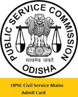 OPSC Civil Service Mains Admit Card