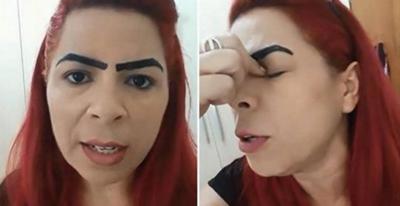Mulher faz sobrancelha definitiva e derruba a internet