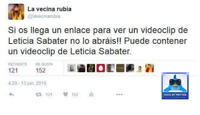 enlace, Leticia Sabater, videoclip, no lo abráis