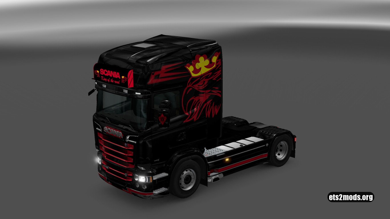 Scania RJL Black & Red Griffin Skin + Accessory
