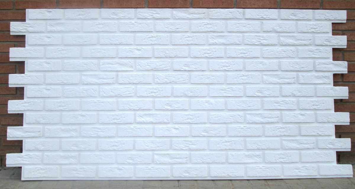 Panel imitaci n ladrillo bristol blanco total revestimiento para paredes valdecora - Revestimiento imitacion ladrillo ...