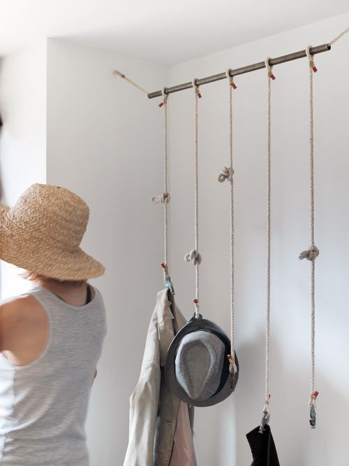 Rope hanging storage