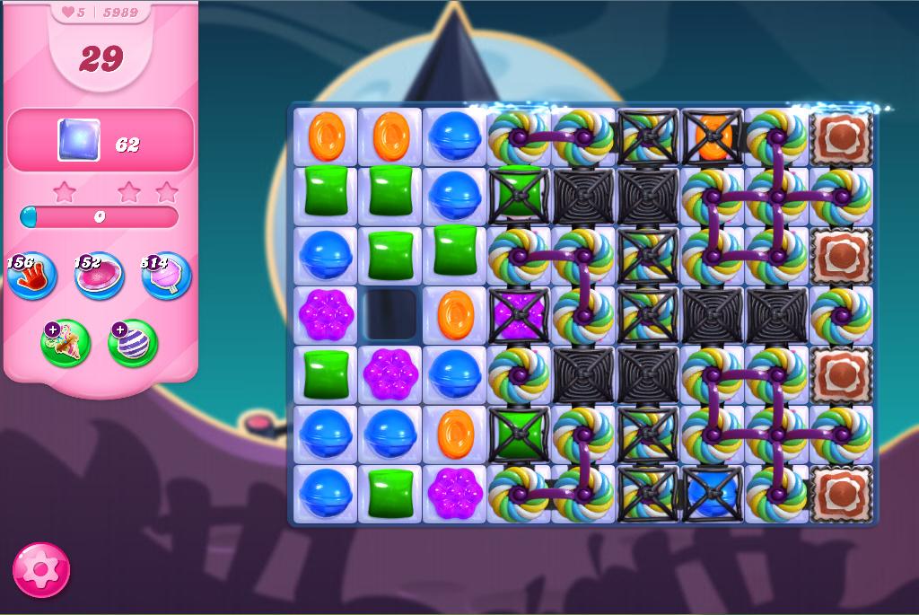 Candy Crush Saga level 5989