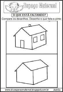 Completando desenho casa