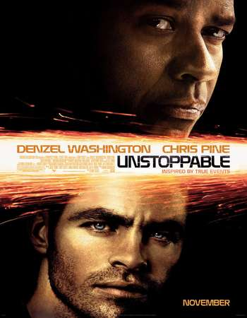 Poster Of Unstoppable 2010 Dual Audio 400MB BRRip 720p ESubs HEVC Free Download Watch Online downloadhub.net