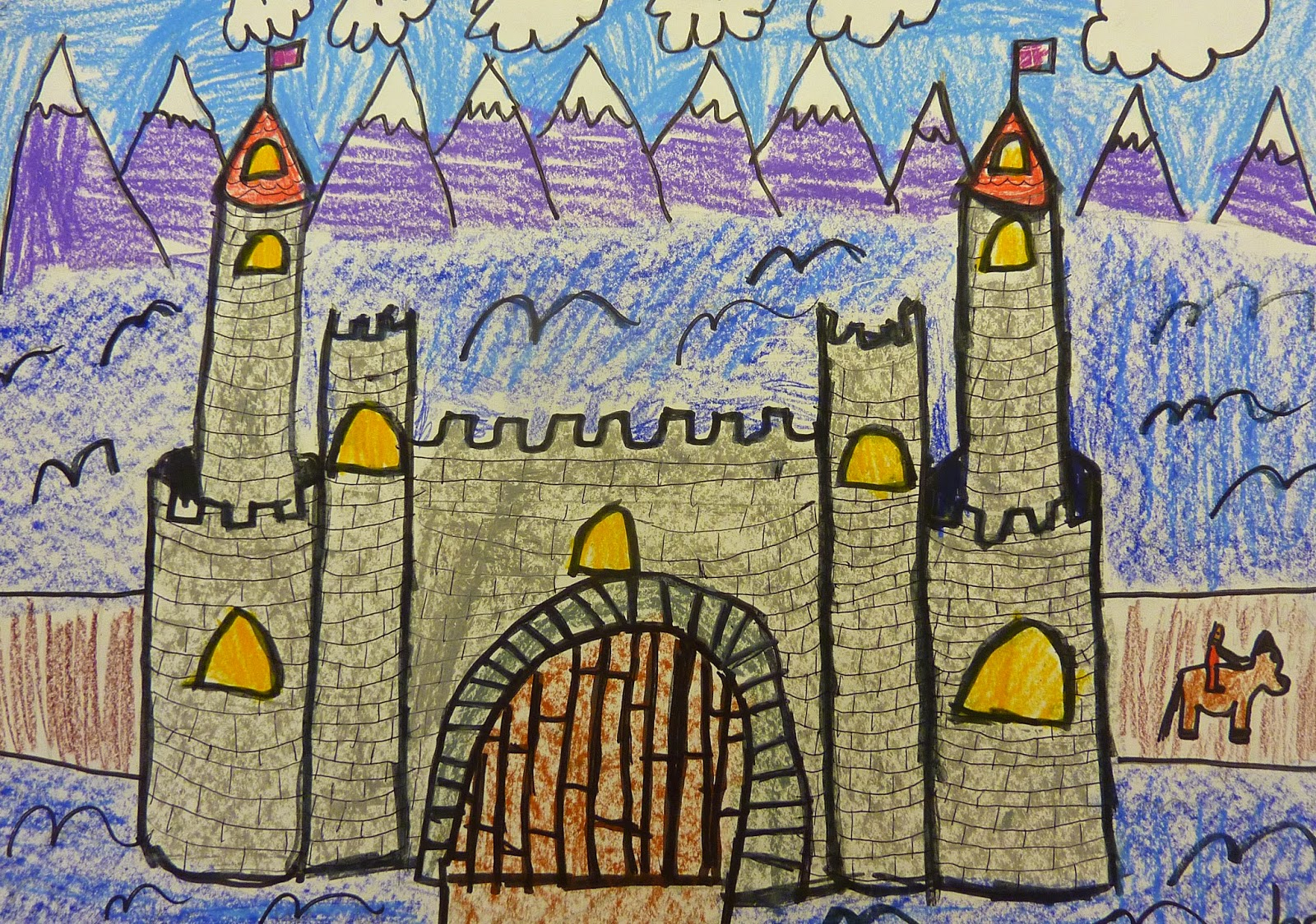 P C K Art Room Middle Ages Castles 4th Grade