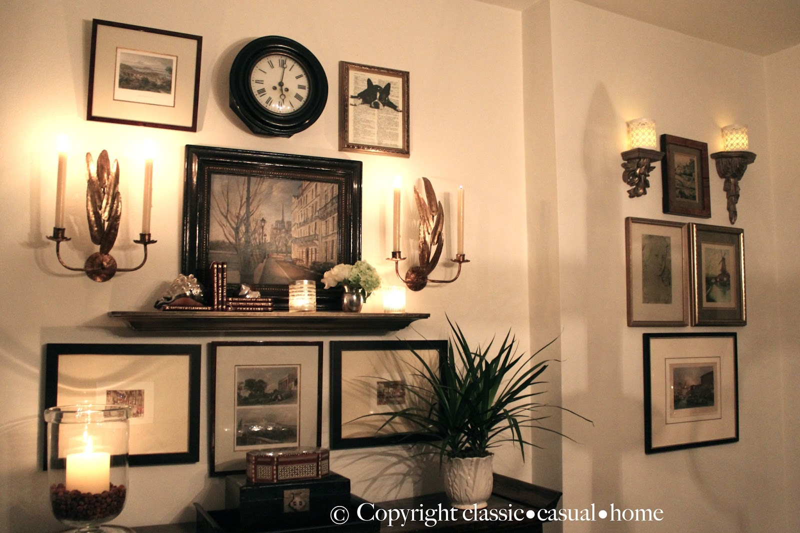 Classic  Casual  Home Project Design Vintage Gallery Wall - Home altar designs