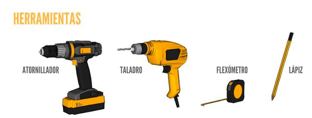 que herramientas necesito armado melamina